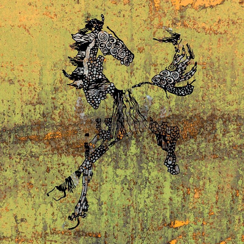 Illustrazione di un cavallo illustrazione di stock