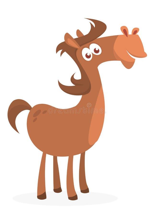 Illustrazione di un cavallo divertente del fumetto Vettore illustrato illustrazione di stock