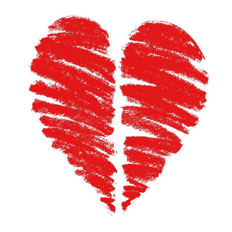Illustrazione di un cuore fotografia stock