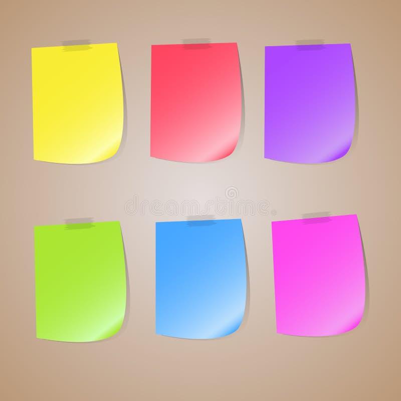 Illustrazione di un insieme colorato delle note appiccicose fotografie stock libere da diritti