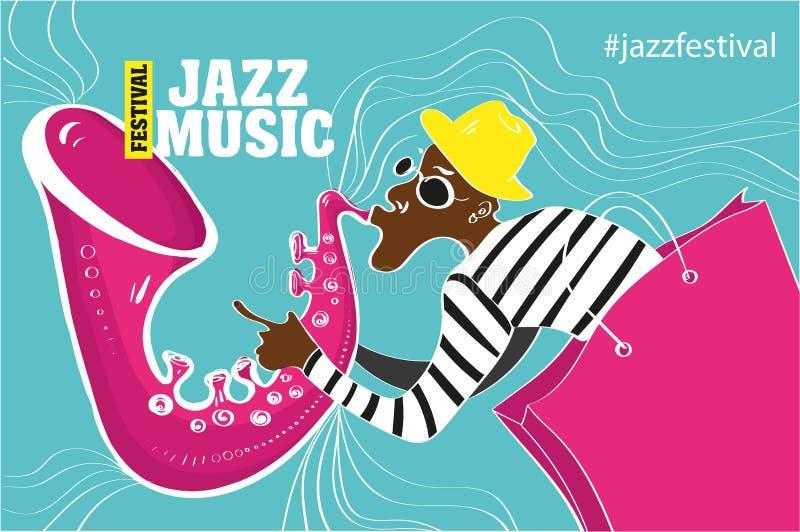 Illustrazione di un manifesto di jazz royalty illustrazione gratis