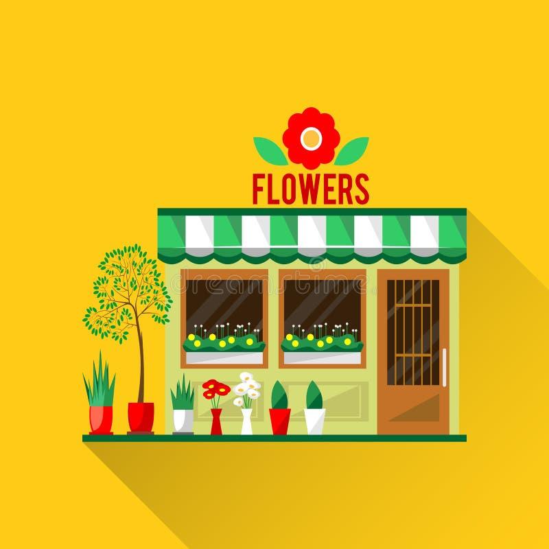 Illustrazione di un negozio di vettore dei fiori royalty illustrazione gratis