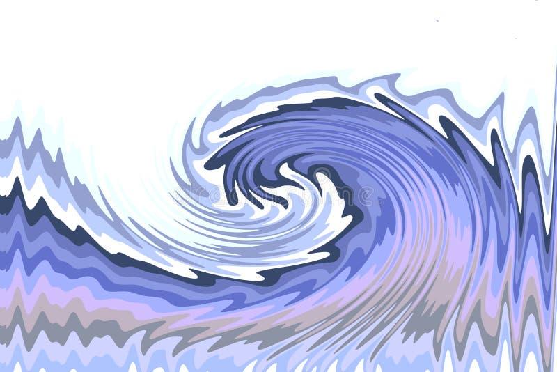Illustrazione di un'onda blu su un fondo bianco fotografia stock