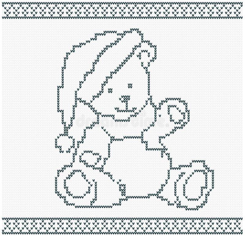 Illustrazione di un orso tricottato illustrazione vettoriale