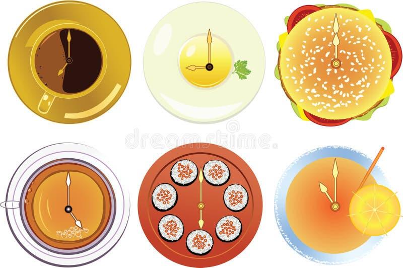 Illustrazione di un reticolo di cibo royalty illustrazione gratis