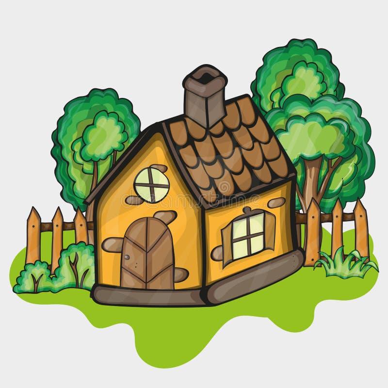 Illustrazione di una casa del fumetto illustrazione vettoriale