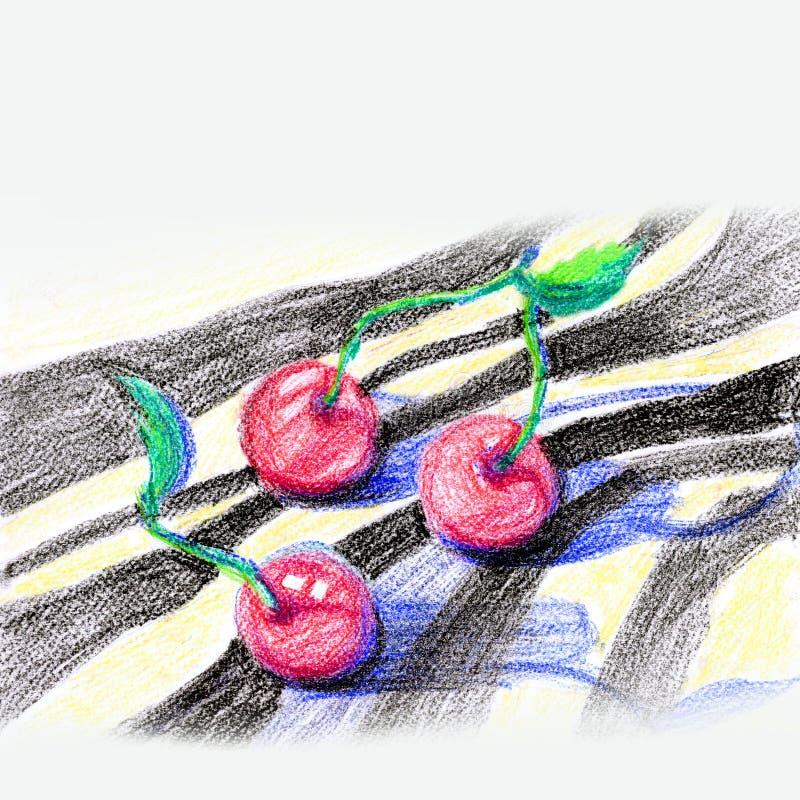 Illustrazione di una ciliegia illustrazione vettoriale