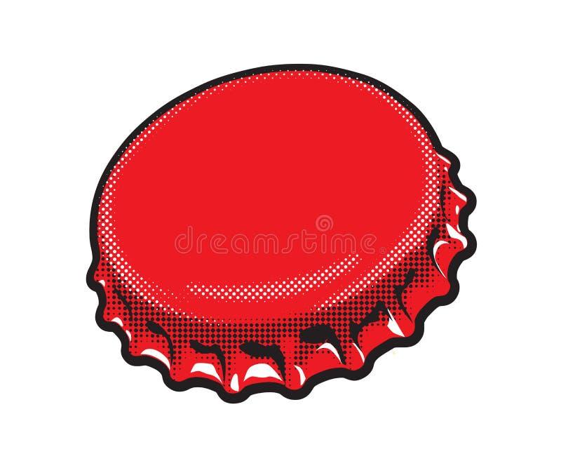 Illustrazione di una cima della bottiglia di soda immagini stock