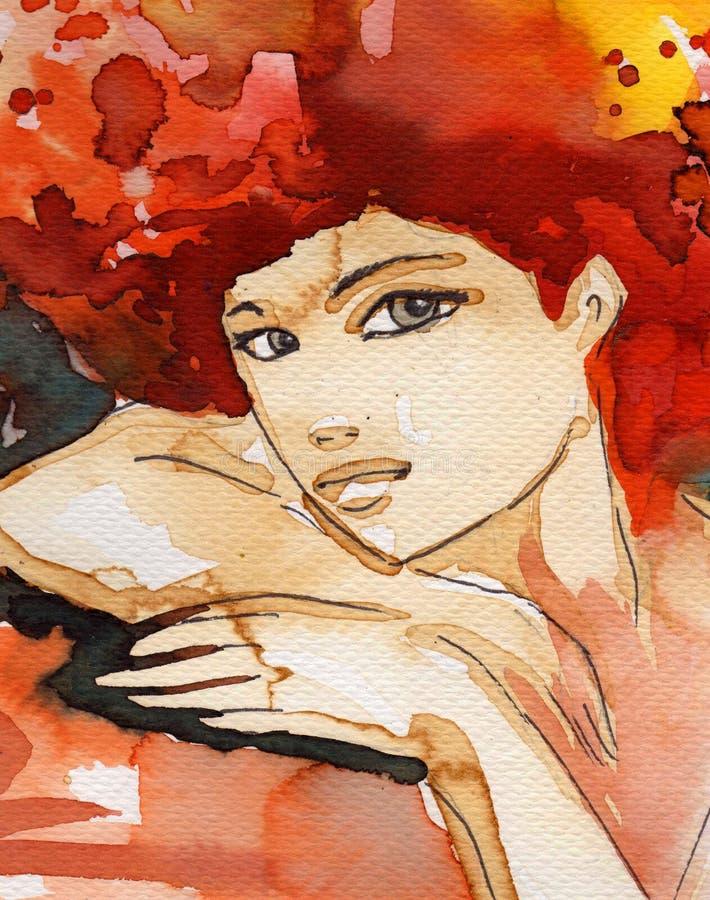 Illustrazione di una donna illustrazione di stock