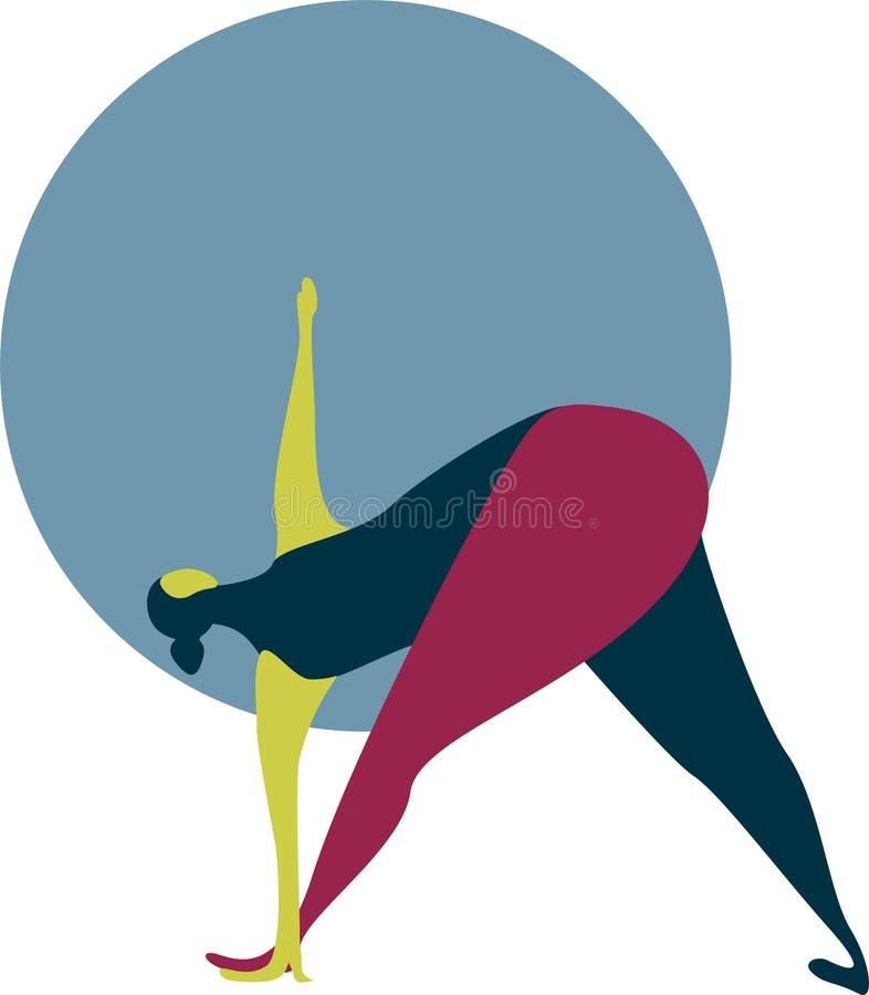 Illustrazione di una donna grassa che fa yoga royalty illustrazione gratis