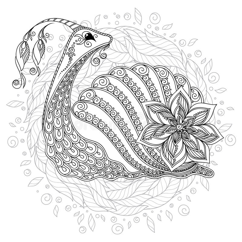 Illustrazione di una lumaca illustrazione di stock