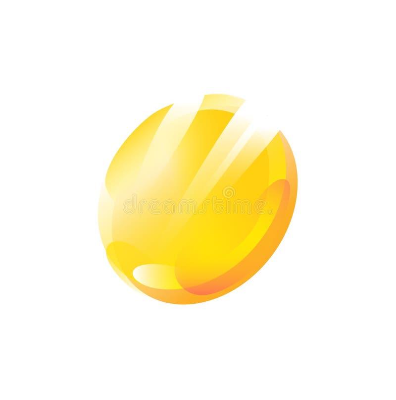 Illustrazione di una moneta Icona piana di pendenza Illustrazione di vettore Moneta di oro Un logo alla moda moderno della societ illustrazione vettoriale