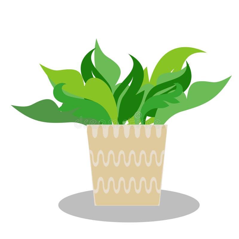 Illustrazione di una pianta da vaso fotografia stock
