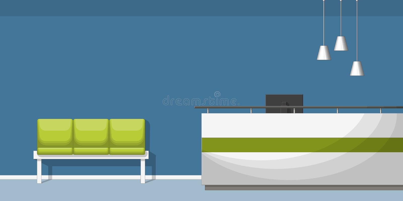 Illustrazione di una sala di attesa royalty illustrazione gratis