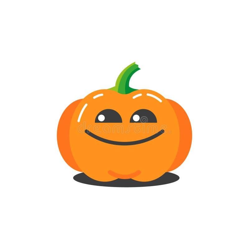 Illustrazione di una zucca divertente del fumetto semplice per Halloween che è molto ingannevole royalty illustrazione gratis