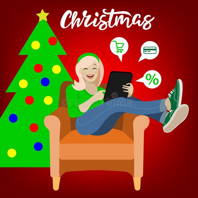 Illustrazione di vendita di Natale immagine stock