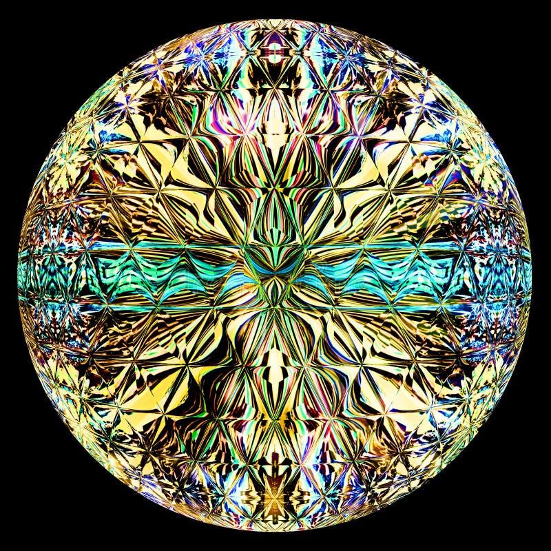 Illustrazione di vetro rotonda di stile royalty illustrazione gratis