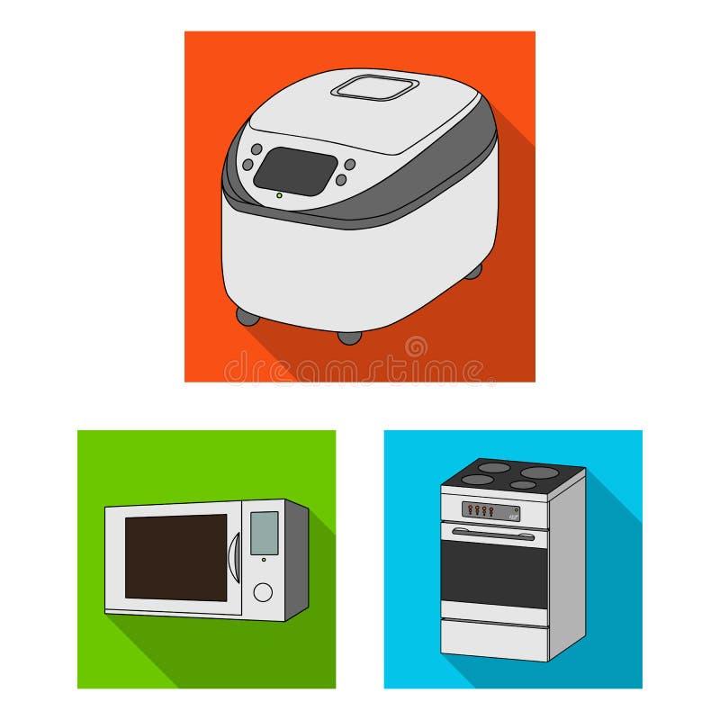 Illustrazione di vettore di alimento e dentro il simbolo Raccolta dell'icona di vettore del fornello e dell'alimento per le azion royalty illustrazione gratis