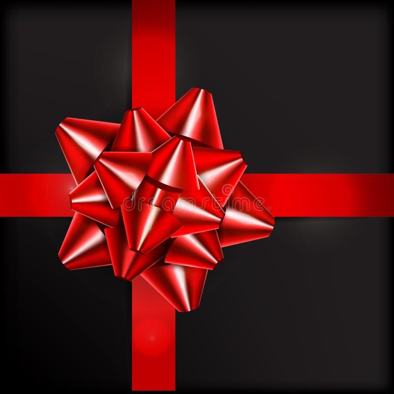 Illustrazione di vettore Arco rosso per i regali d'imballaggio illustrazione vettoriale