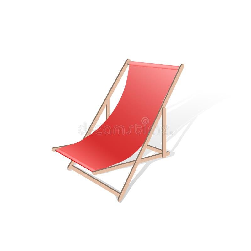 Illustrazione di vettore di chaise longue della spiaggia illustrazione di stock