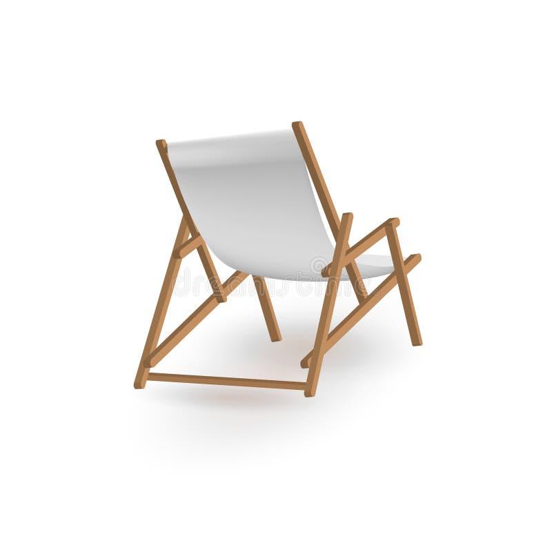 Illustrazione di vettore di chaise longue della spiaggia royalty illustrazione gratis