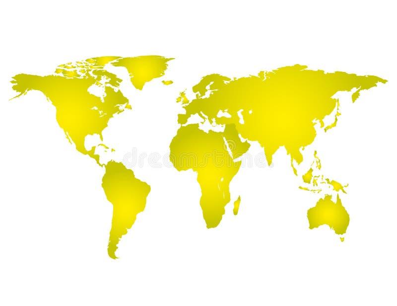 Illustrazione di vettore di colore pieno dell'estratto della mappa di mondo illustrazione vettoriale