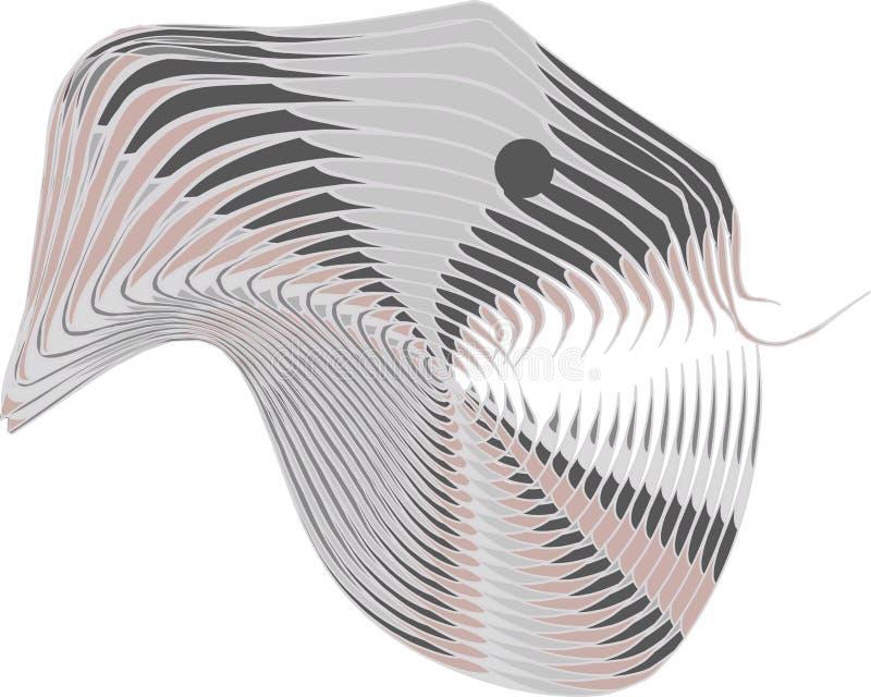 Illustrazione di vettore con una testa dello straniero di umanoide del Reptilian con la lingua del serpente Per l'autoadesivo, ma royalty illustrazione gratis