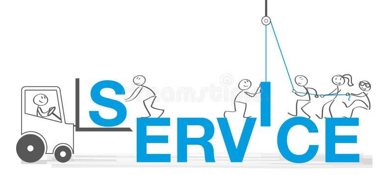 Illustrazione di vettore di concetti di servizio di assistenza al cliente illustrazione vettoriale