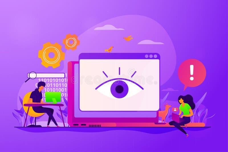 Illustrazione di vettore di concetto di Cyberstalking royalty illustrazione gratis