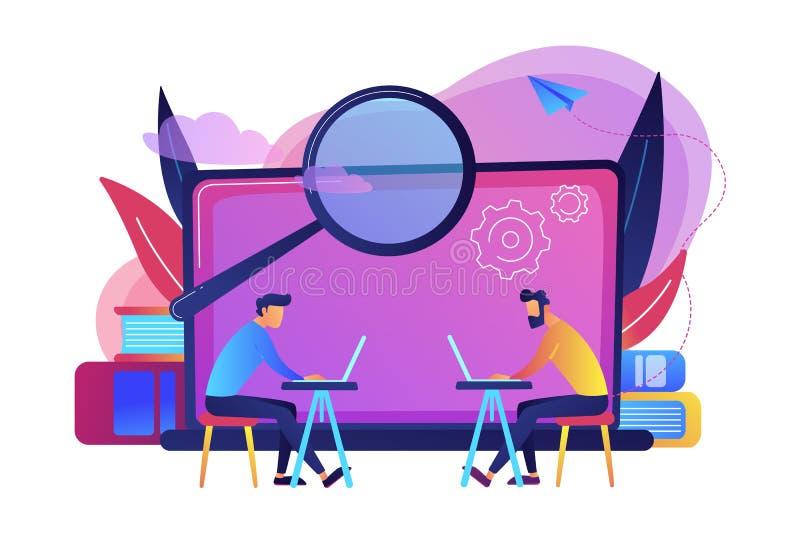 Illustrazione di vettore di concetto del laboratorio del computer illustrazione di stock