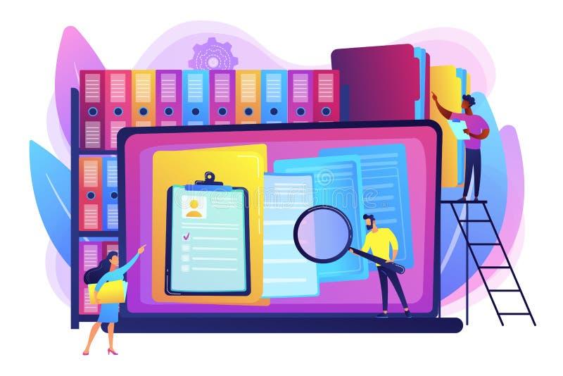 Illustrazione di vettore di concetto della gestione di annotazioni illustrazione di stock