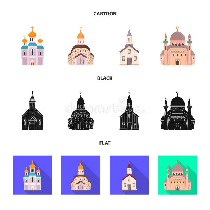 Illustrazione di vettore di culto e del simbolo del tempio Metta di culto e dell'illustrazione di vettore delle azione della parr royalty illustrazione gratis