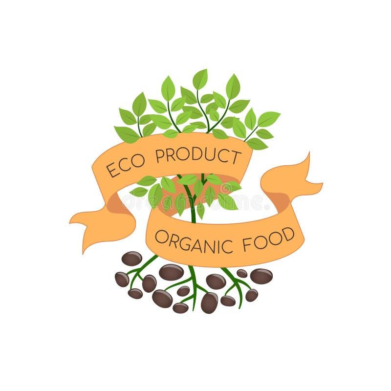 Illustrazione di vettore degli ingredienti organici naturali illustrazione di stock