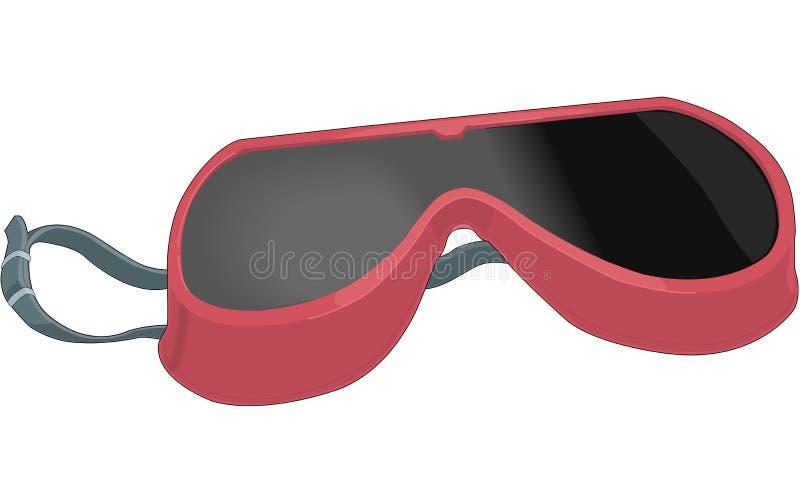 Illustrazione di vettore degli occhiali di protezione o di vetro di sicurezza illustrazione vettoriale