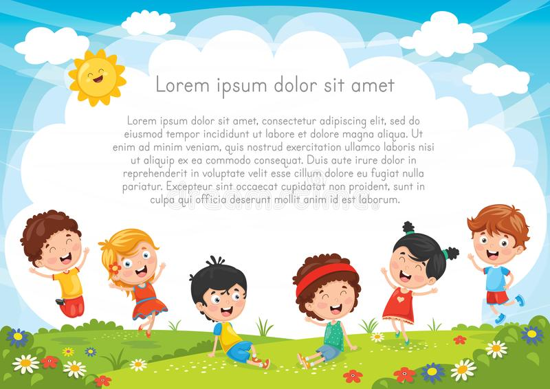 Illustrazione di vettore dei caratteri felici del bambino illustrazione vettoriale