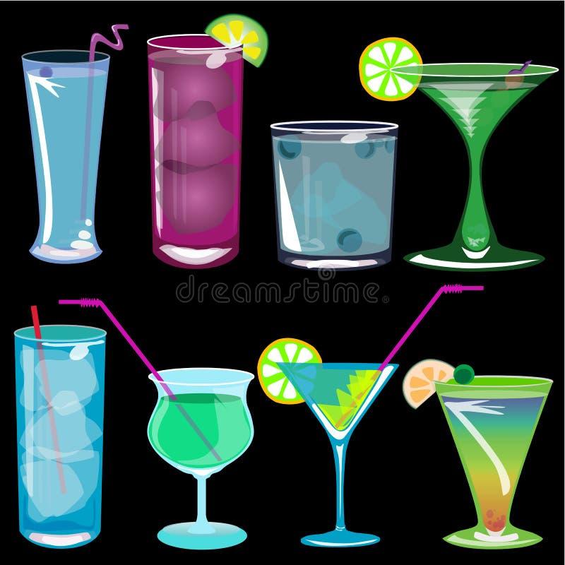 Illustrazione di vettore dei cocktail illustrazione di stock