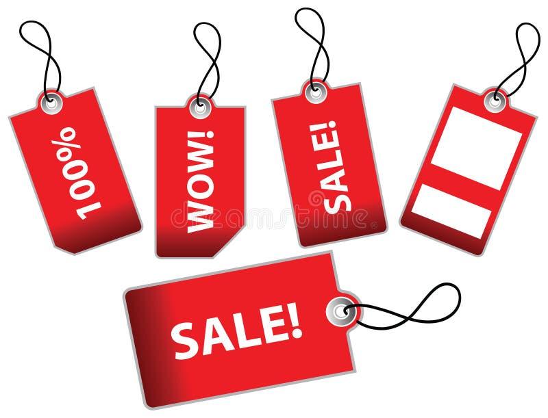 Illustrazione di vettore dei contrassegni di vendita royalty illustrazione gratis