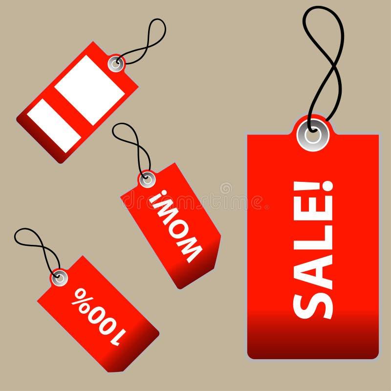 Illustrazione di vettore dei contrassegni di vendita illustrazione vettoriale