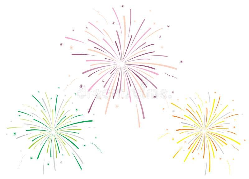 Illustrazione di vettore dei fuochi d'artificio fotografia stock