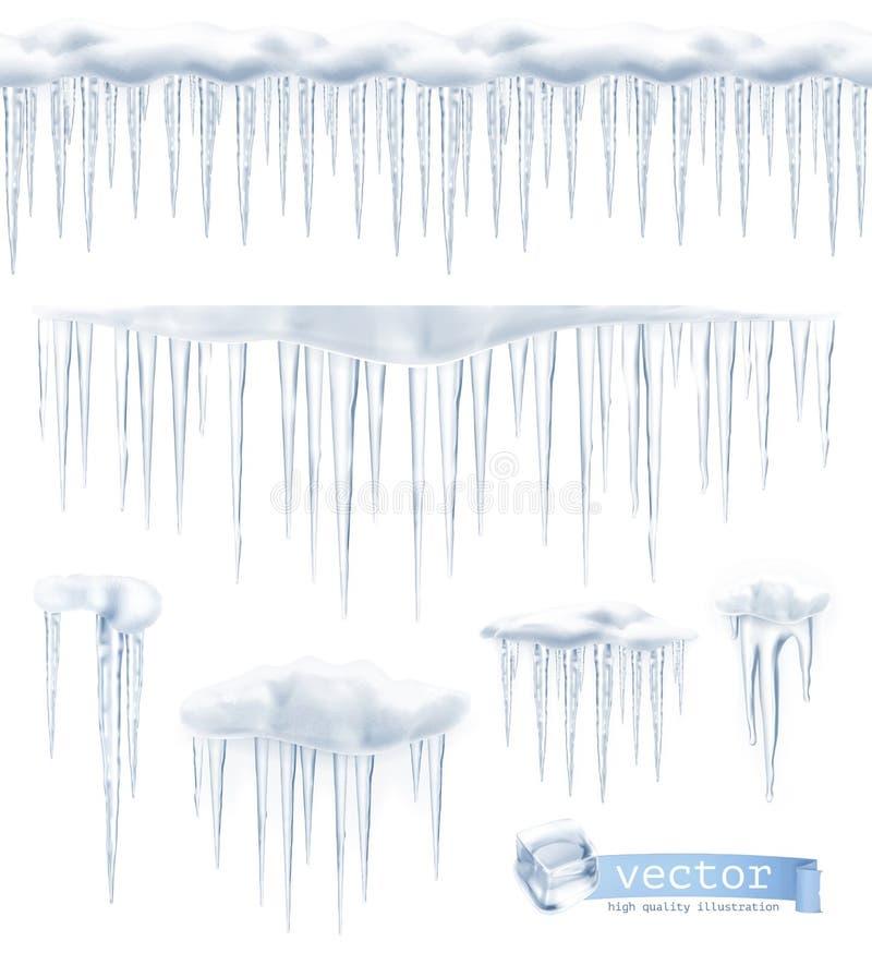 Illustrazione di vettore dei ghiaccioli royalty illustrazione gratis