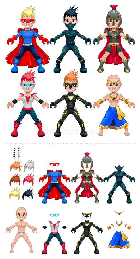 Illustrazione di vettore dei supereroi dell'avatar, oggetti royalty illustrazione gratis