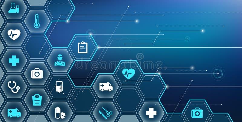 Illustrazione di vettore del †di concetto di salute/e-salute di Digital « illustrazione di stock