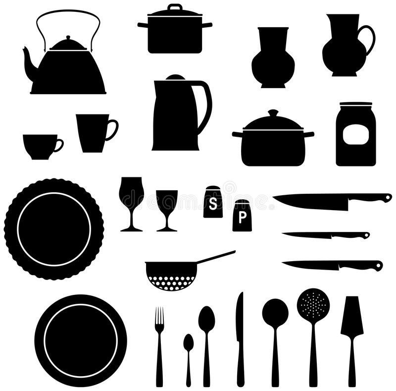 Illustrazione di vettore del â degli elementi della cucina royalty illustrazione gratis