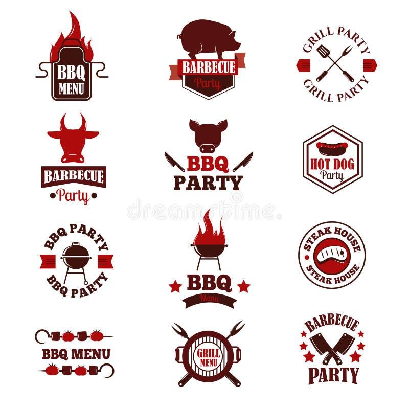 Illustrazione di vettore del BBQ royalty illustrazione gratis