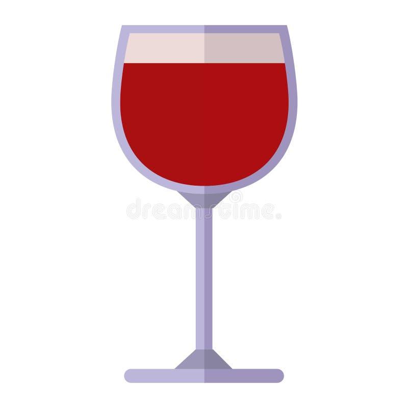 Illustrazione di vettore del bicchiere di vino illustrazione di stock