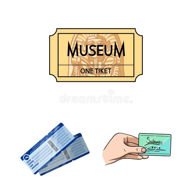 Illustrazione di vettore del biglietto e del segno di film Metta del biglietto e del simbolo di riserva di concerto per il web illustrazione di stock