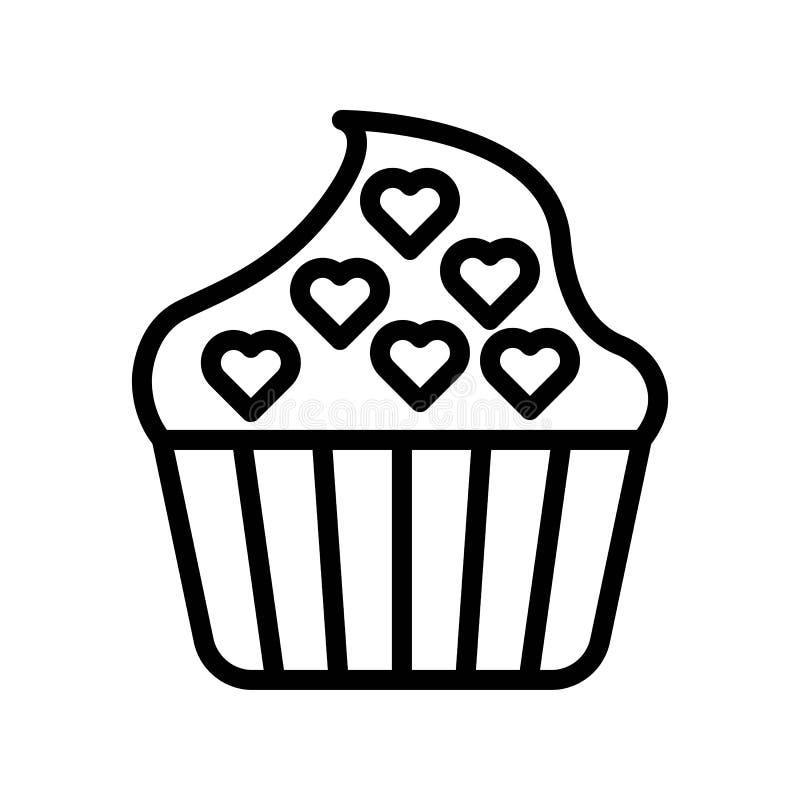 Illustrazione di vettore del bigné, linea isolata icona di stile illustrazione di stock