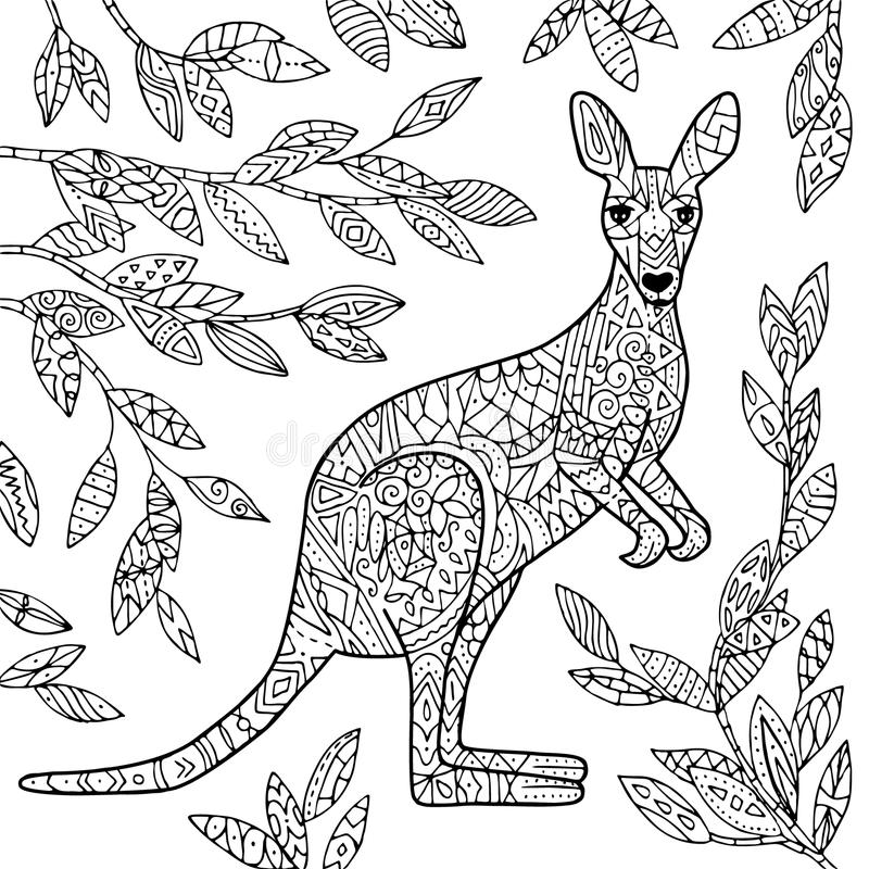 Illustrazione di vettore del canguro royalty illustrazione gratis