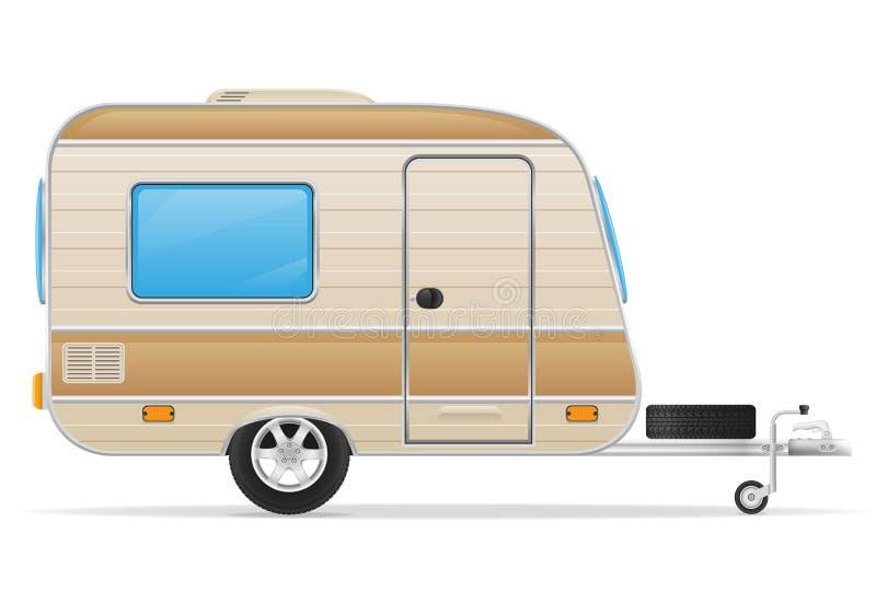 Illustrazione di vettore del caravan del rimorchio illustrazione di stock