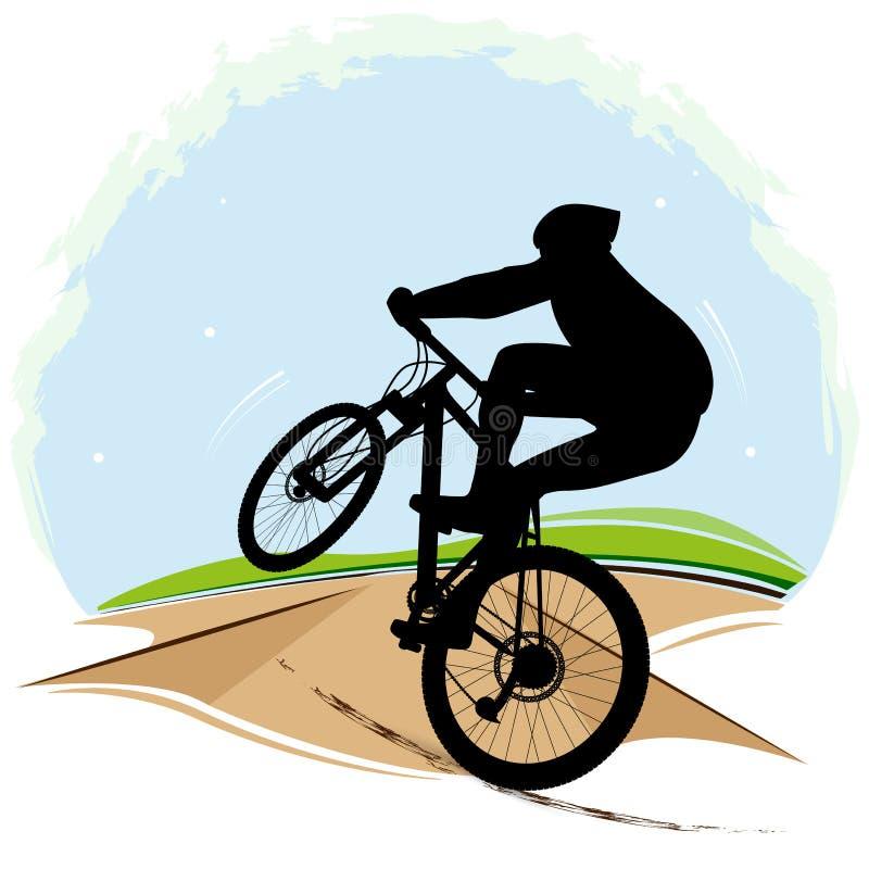 Illustrazione di vettore del ciclista fotografia stock